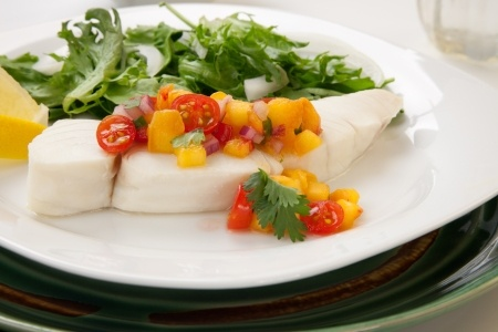halibut peach salsa
